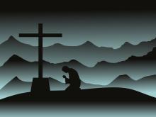 Orando a la cruz